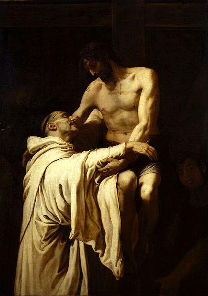 San Bernardo en brazos de Jesús