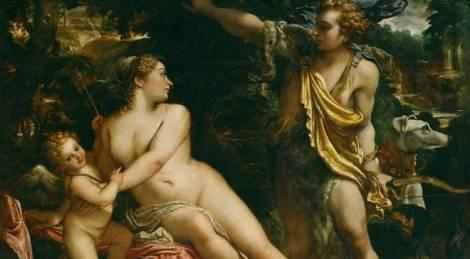 Cupido, Venus y Adonis