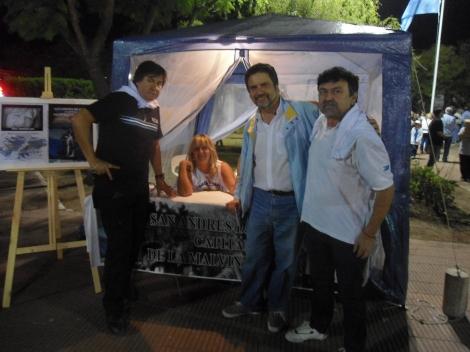 Toribio Encina, VGM reg blindados 10 de La Tablada, Piky Pelaez, un servidor y Marcos Falcón VGM grupo de artillería 3 de Corrientes, en San Andrés de Giles